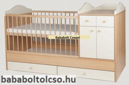Bogi kombi babaágy 60x120 cm  ** 1 fiókos, 2 ajtós ** Több szín