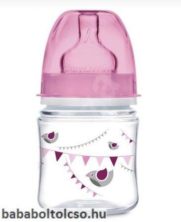 Canpol babies PARTY Széles nyakú cumisüveg 120 ml rózsaszín