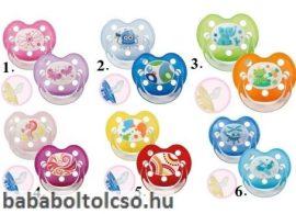 Baby Nova Cumi szilikon, fogszabályzós, fogóval, 2 db-os 6-18+
