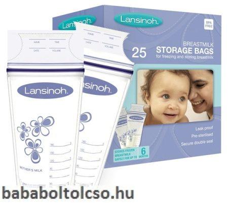 Lansinoh anyatejtároló zacskó - Közvetlen bele fejhető - 25 db