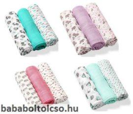 BabyOno színes textilpelenka 3db-os Több színben