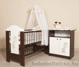 Kinder Möbel SAVANNA II zsiráfos babaszoba ágyneműtartóval