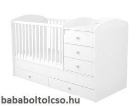 Timba FÉLIX 70x120 cm 5 fiókos maxi kombi gyermekágy fehér