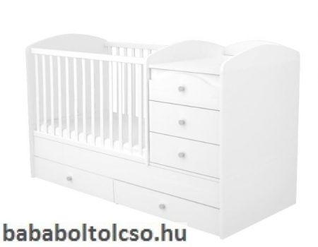5 fiókos Maxi Kombi kiságy - Fehér