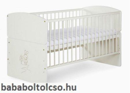 Klups Nyuszis babaágy 70x140 cm *átalakítható*ÁGYNEMŰTARTÓ NÉLKÜL!