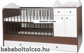 Kinder Möbel BOGI 60x120 cm kombiágy wenge-fehér