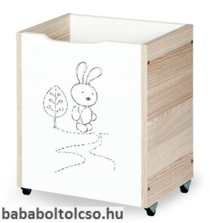 Klups Nyuszi játéktároló hamu-fehér