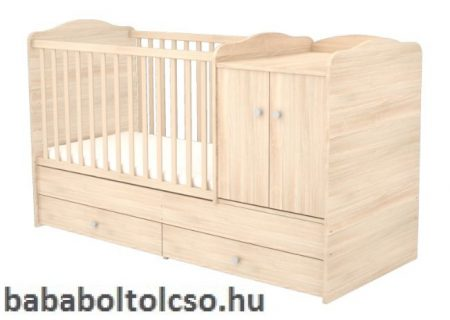 Timba NIKI 70x120 cm 2 ajtós maxi kombi gyermekágy borostyán