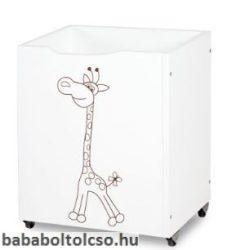 Klups - Szafari Zsiráfos fehér játéktároló
