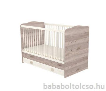 Timba 70 x 140-es Átalakítható Gyermekágy Ágyneműtartós - Krém fűz Viki