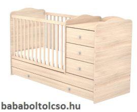 Timba NIKI 60x120 cm 3 fiókos kombi gyermekágy borostyán