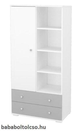 Timba ERIK 1 ajtós 2 fiókos szekrény ezüst-fehér