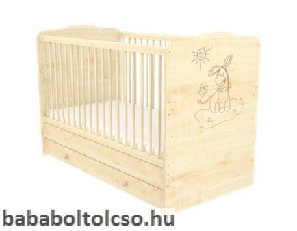 70 x 140-es Átalakítható Gyermekágy Ágyneműtartós LILI - Juhar csacsis