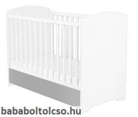 Timba Erik 70x140-as Átalakítható gyerekágy - Ezüst-fehér