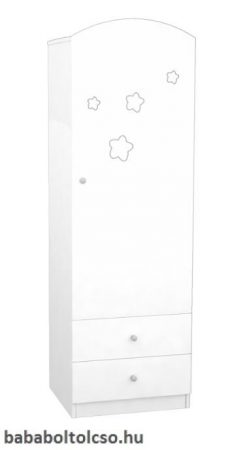 Timba FÉLIX csillagos álló szekrény jobb elem fehér