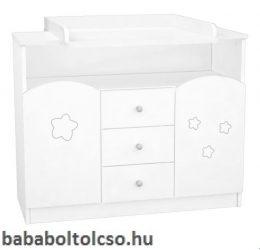 Timba FÉLIX 106-os pelenkázó szekrény csillagos fehér