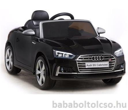 Audi S5 Cabriolet 12V Elektromos kisautó fekete RENDELHETŐ