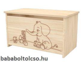 Timba NIKI elefántos játéktároló láda borostyán