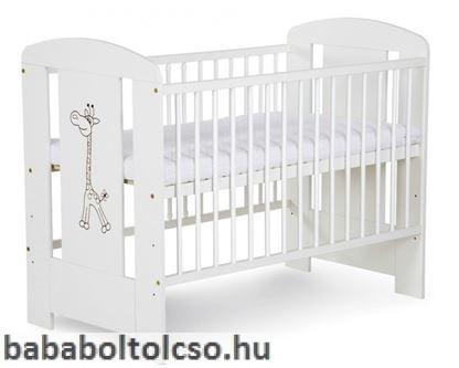 Klups Szafari/Zsiráf kiságy 60X120 - Fehér/Biale