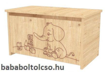Játéktároló láda elefántos - Mandula