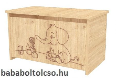 Timba Játéktároló láda elefántos - Mandula