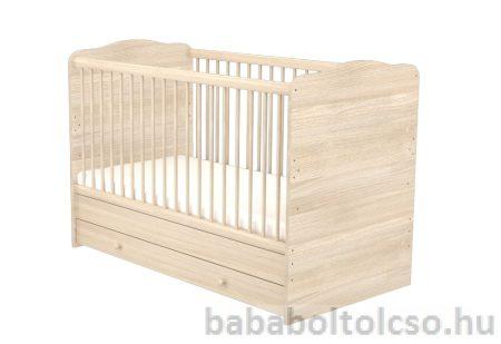 Timba 70x140-es Átalakítható Gyermekágy Ágyneműtartós NIKI - Borostyán