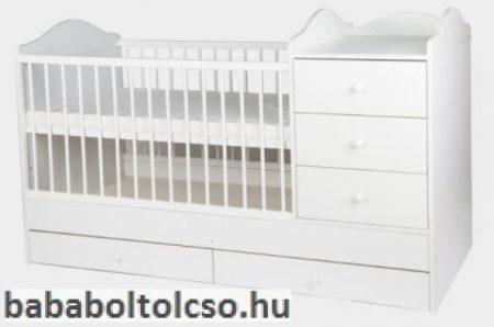Kinder Möbel RENI 60x120 cm kombiágy fehér KÉSZLETHIÁNY