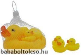 Műanyag kacsacsalád fürdőjáték