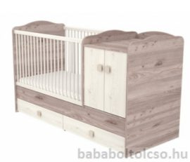 Timba VIKI 70x120 cm 2 ajtós maxi kombi gyermekágy krém-fűz