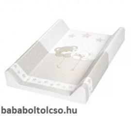 ALBERO MIO Puha pelenkázó lap  70cm - 185 Macik csillaggal Bézs-fehér