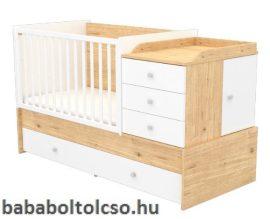 Timba FANNI 70x120 cm multikombi gyermekágy mandula-fehér
