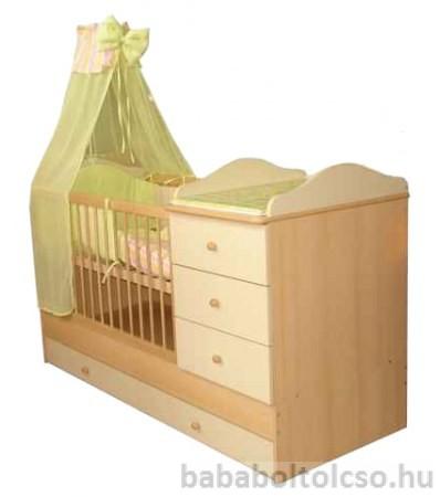 Kinder Möbel RENI 60x120 cm kombiágy bükk-bézs KÉSZLETHIÁNY