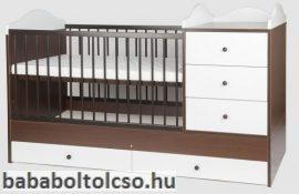 Kinder Möbel RENI 60x120 cm kombiágy dió-fehér