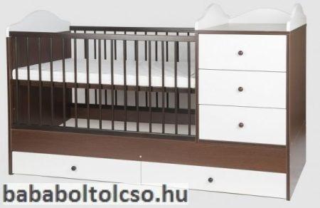 Kinder Möbel RENI 60x120 cm kombiágy dió-fehér KÉSZLETHIÁNY