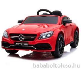 Mercedes C63 elektromos kisautó Piros RENDELHETŐ
