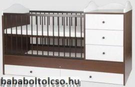 Kinder Möbel RENI 70x120 cm kombiágy dió-fehér KÉSZLETKISÖPRÉS