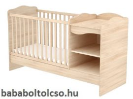 Timba NIKI 60x120 cm nyitott kombi gyermekágy borostyán