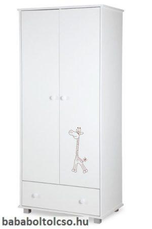 Klups Safari zsiráf állószekrény 2 ajtós fehér