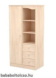 Timba NIKI 1 ajtós 3 fiókos álló szekrény borostyán