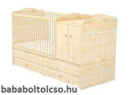 Timba LILI 70x120 cm 2 ajtós maxi kombi gyermekágy juhar
