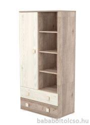 Timba VIKI 1 ajtós 2 fiókos álló szekrény krém-fűz