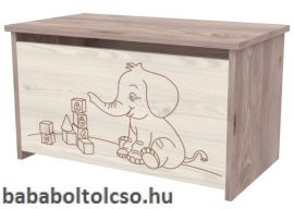 Timba VIKI játéktároló láda elefántos krém-fűz